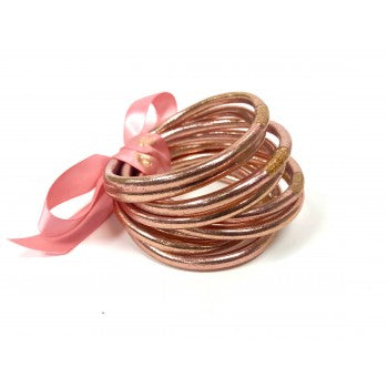 Rose Gold All Weather Bangles - Set of 9