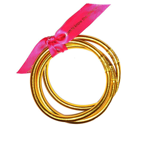 Gold All Weather Bangles - Set of 3