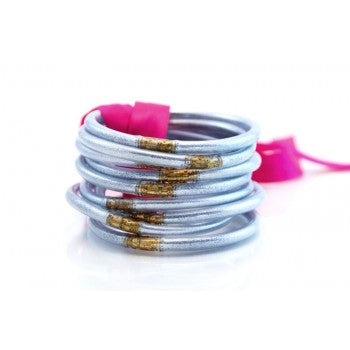 Silver All Weather Bangles - Set of 9