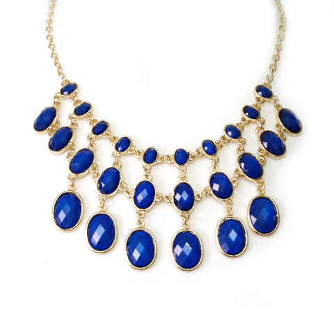 Navy Princess Tiered Necklace