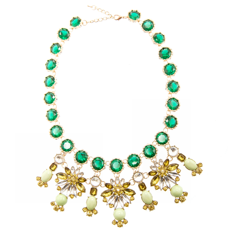 Emerald Petals Necklace
