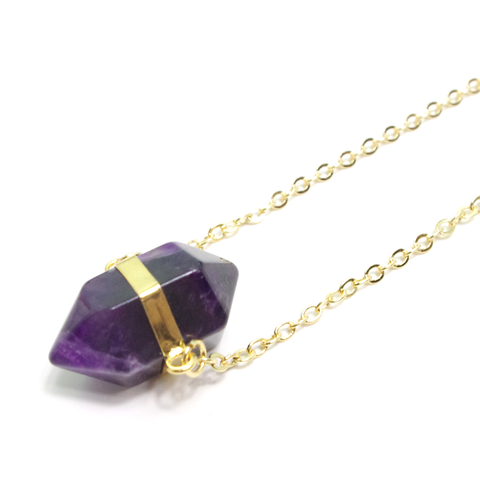 Amethyst Prism Necklace