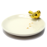 Gold Footprints Jewellery Dish