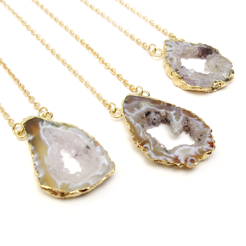 Natural Geode Slice Necklace