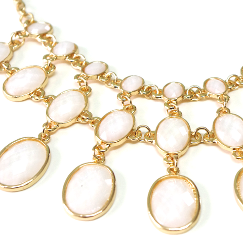 Cream Princess Tiered Necklace