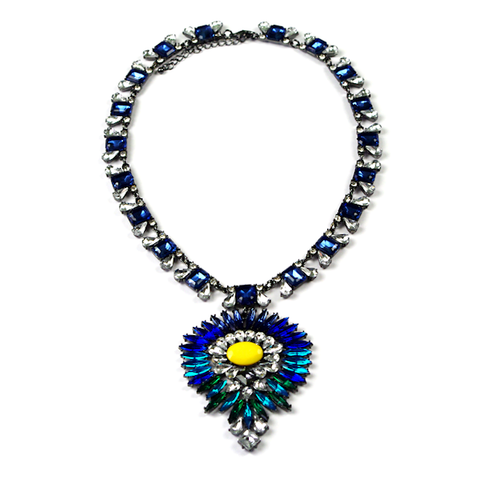 Peacock Burst Necklace