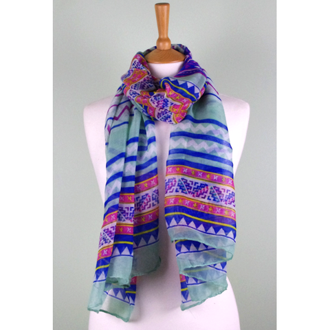 Mint Candy Multi Print Scarf