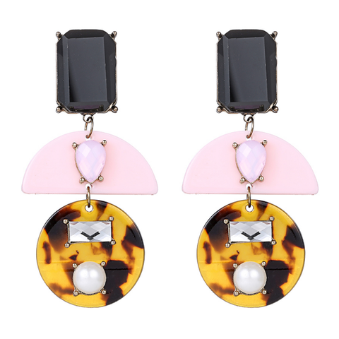 Pink Tortoise Earrings
