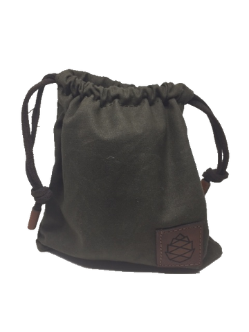 Waxed Canvas Golf Valuables Pouch in Charcoal Heather