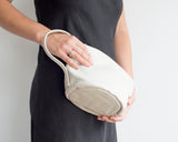 T-Pot Clutch in Stone White