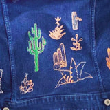 Reworked - Levis denim jacket with cactus garden