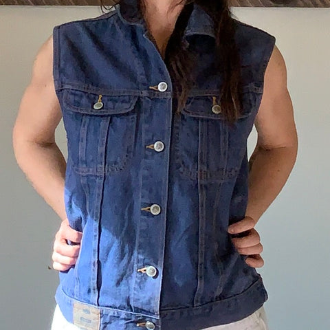 reworked - denim vest
