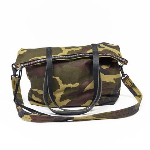 Camouflage Zipper Tote