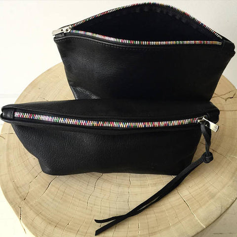 Halfmoon Clutch in Black