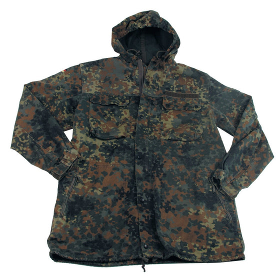 German Flecktarn Camo Parka- Used