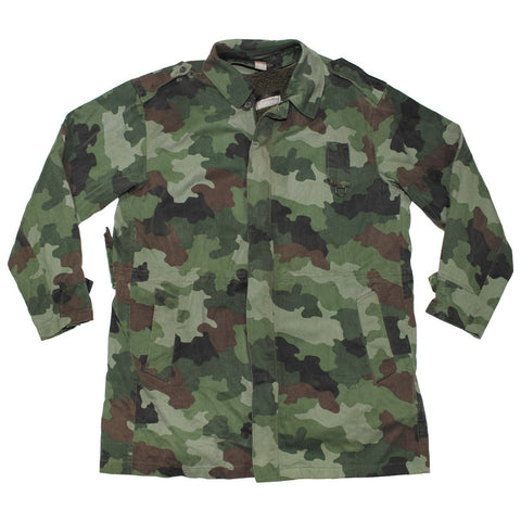 Serbian M89 Camouflage Field Parka with Lining- Used