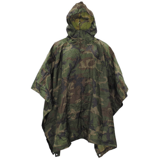 Angolan Woodland Camo Poncho with Carry Bag