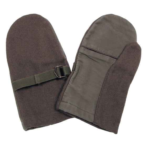 Austrian Bundesheer Wool Shooting Mittens- Used
