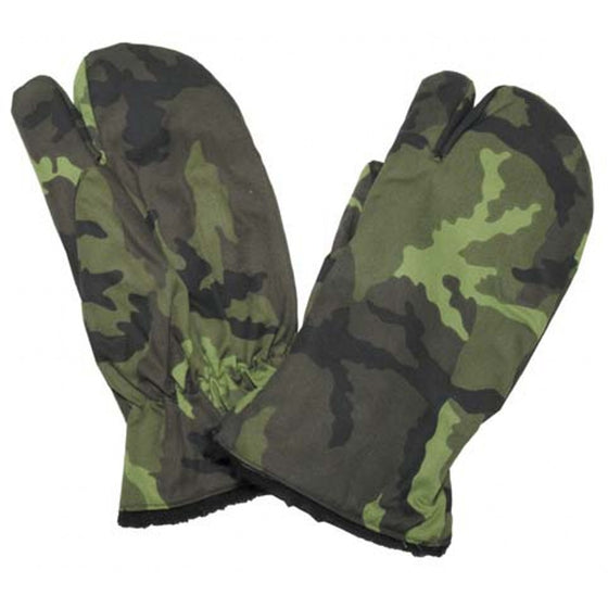 Czech M95 Camouflage Shooting Gloves with Trigger Finger- Unissued Size XL