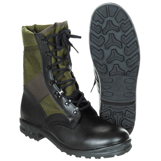 German Bundeswehr Green and Black Jungle Boots- UNISSUED In Stock