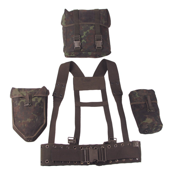 German Bundeswehr 5 Piece Flecktarn Harness Set-Used