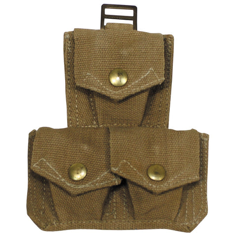 British Enfield P37 Style Triple Ammo Pouch- Used