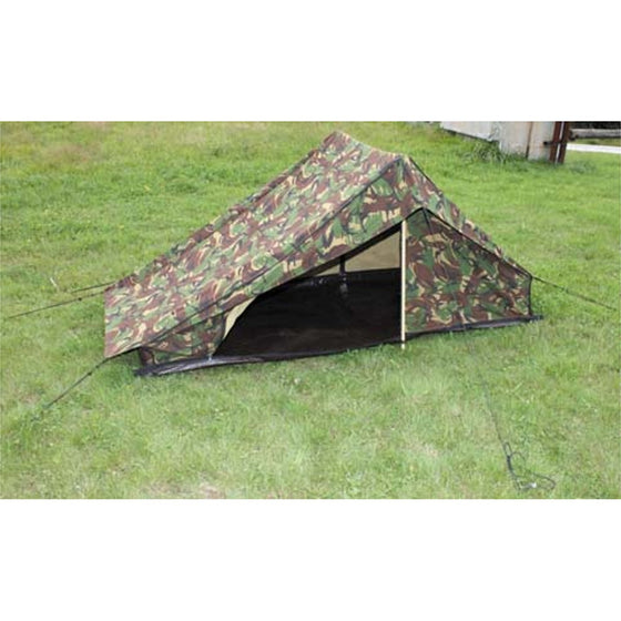 Dutch DPM Camouflage 1-2 Person Tent W/Poles&Stakes- Used