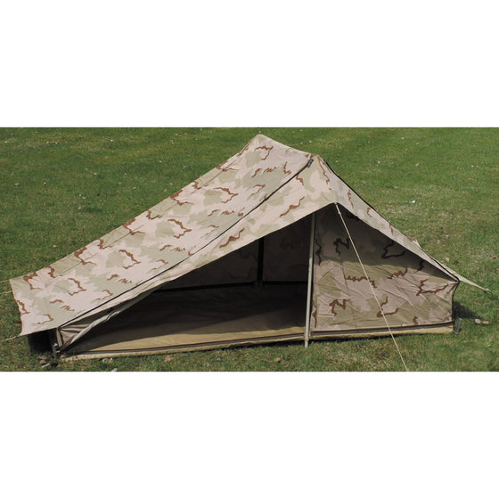 Dutch Desert Camouflage 1-2 Person Tent W/Poles- Used
