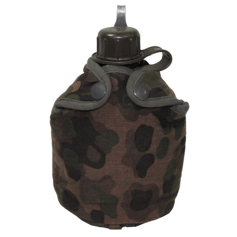 "Austrian Canteen with ""Pea Dot"" Camouflage cover- Used"