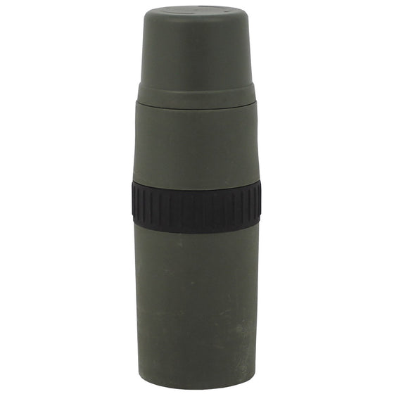 Dutch Military Surplus 1L Vacuum Thermos, OD Green, Used.