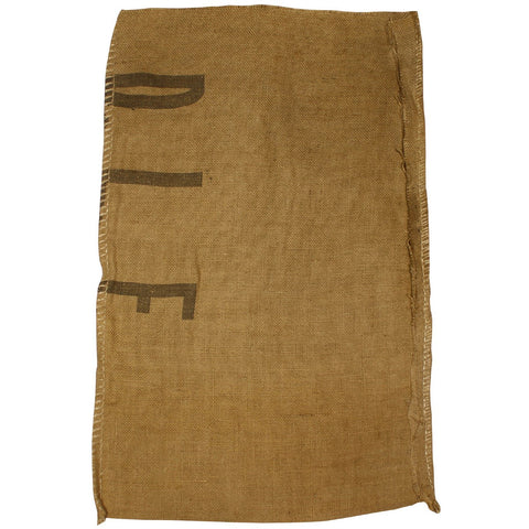 Burlap Coffee or Grain Sacks that Double as Sandbags- Various Markings