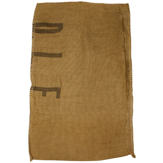 VALUE PACK of 10 Burlap Coffee or Grain Sacks that Double as Sandbags- Various Markings