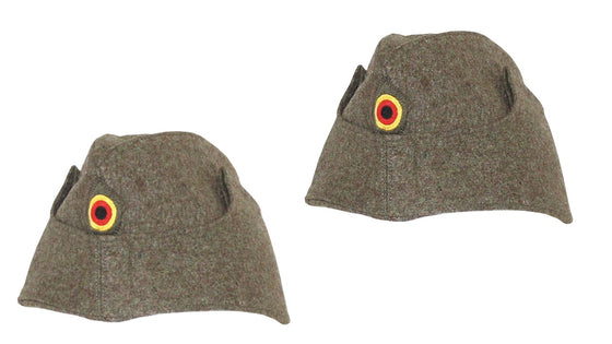 German 1960s Bundeswehr Wool Felt Winter Sidecap- 2 Pack