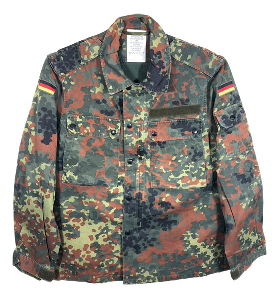 German Flecktarn Camouflage Field Shirt- VERY BIG SIZES-Used