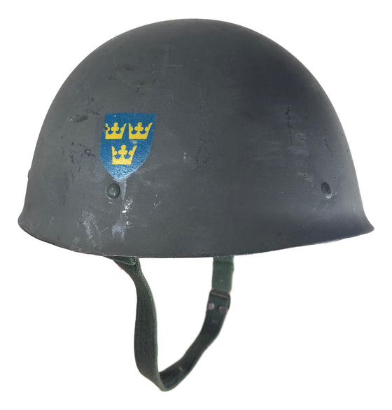 Swedish M1937/65 Steel Helmet- Used, Good Condition