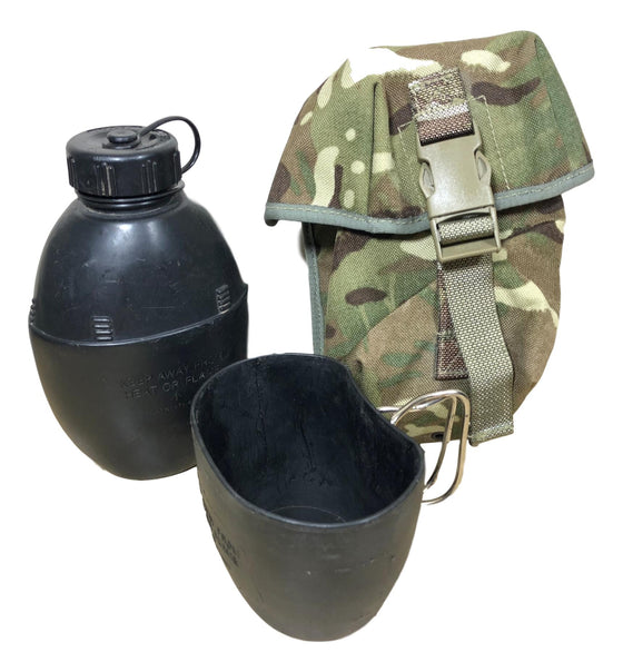 British Military Surplus Canteen with Cup and MTP Pouch-Used