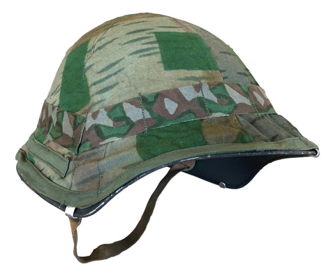 Swiss M1918/40 Steel Helmet with Reversible Camo Cover- Used