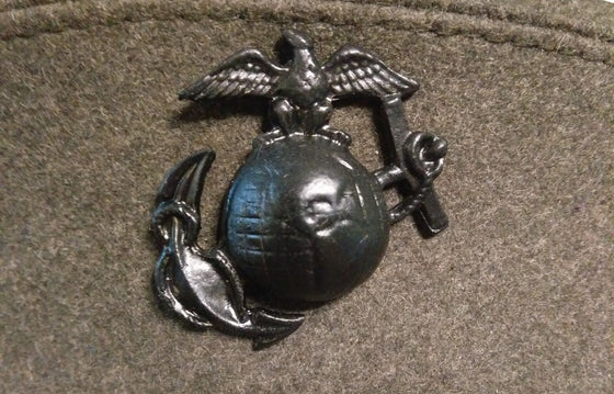 WW1 Reproduction USMC Eagle, Globe, and Anchor Dress Cap Insignia