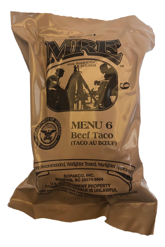 U.S. MRE (Meal Ready to Eat) With Heating Pack