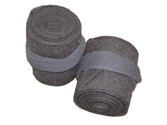 Charcoal Gray Wool Leg Wraps/ Puttees
