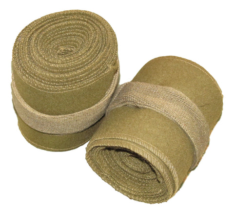 Khaki Wool Leg Wraps/ Puttees