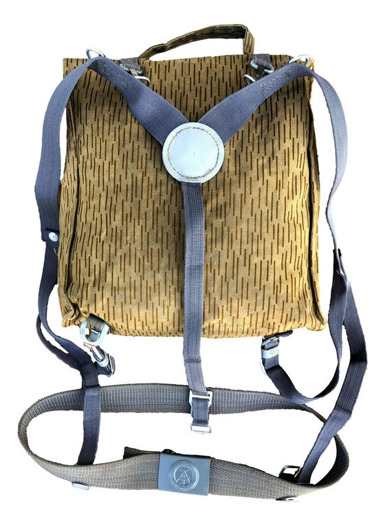 East German Strichtarn Combat Pack with Belt and Suspenders- Used
