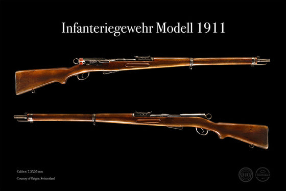 Swiss Schmidt-Rubin Model 1911 Infantry Rifle Firearm Posters