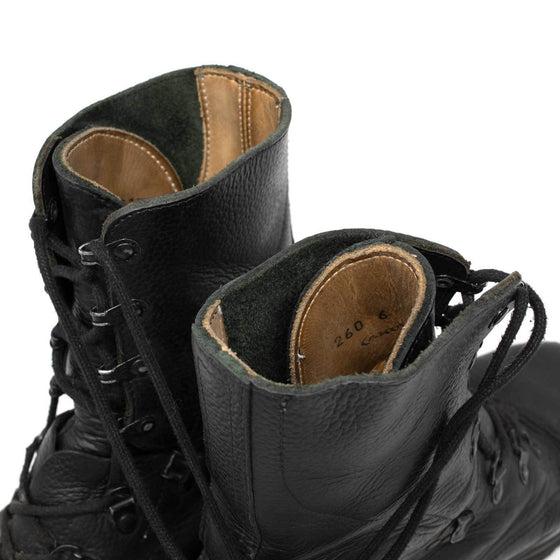 Swiss KS90 Black Leather Combat Boots- Used