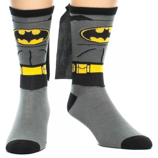 Bioworld - Batman Suit Up Crew Socks with Cape | Women's - Knock Your Socks Off