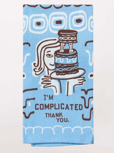 Blue Q - I'm Complicated Dish Towel - Knock Your Socks Off