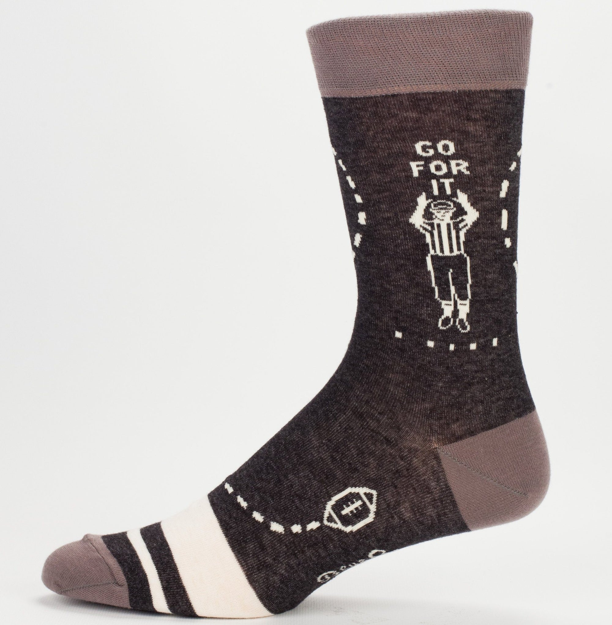 Blue Q - Sunday Crew Socks | Men's - Knock Your Socks Off