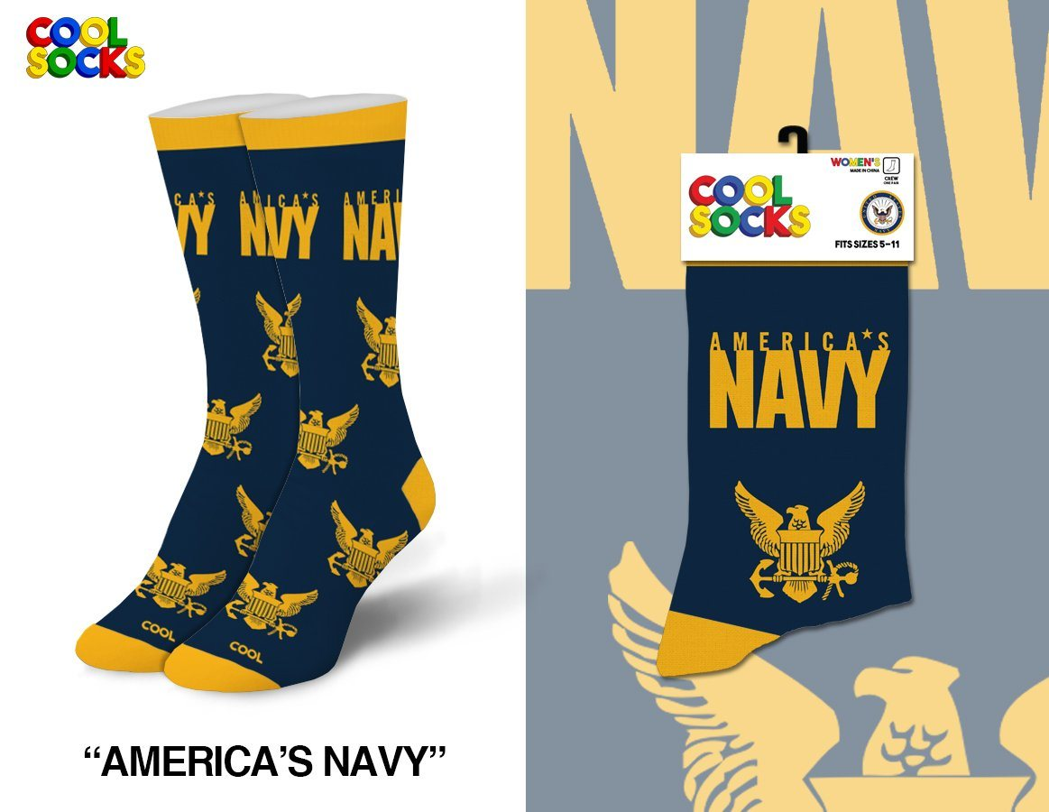 Cool Socks - America's Navy Crew Socks | Men's - Knock Your Socks Off
