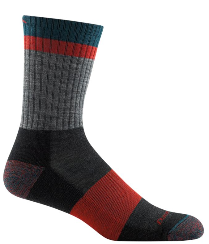 Darn Tough - Heady Stripe Micro Crew Light Cushion | Men's - Knock Your Socks Off