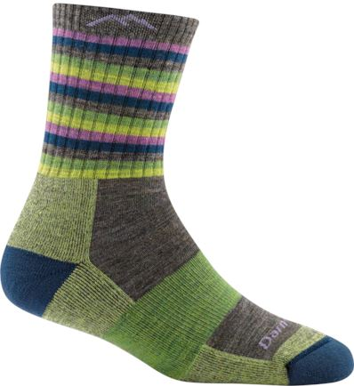 Darn Tough - Stripes Micro Crew Cushion Socks | Women's - Knock Your Socks Off